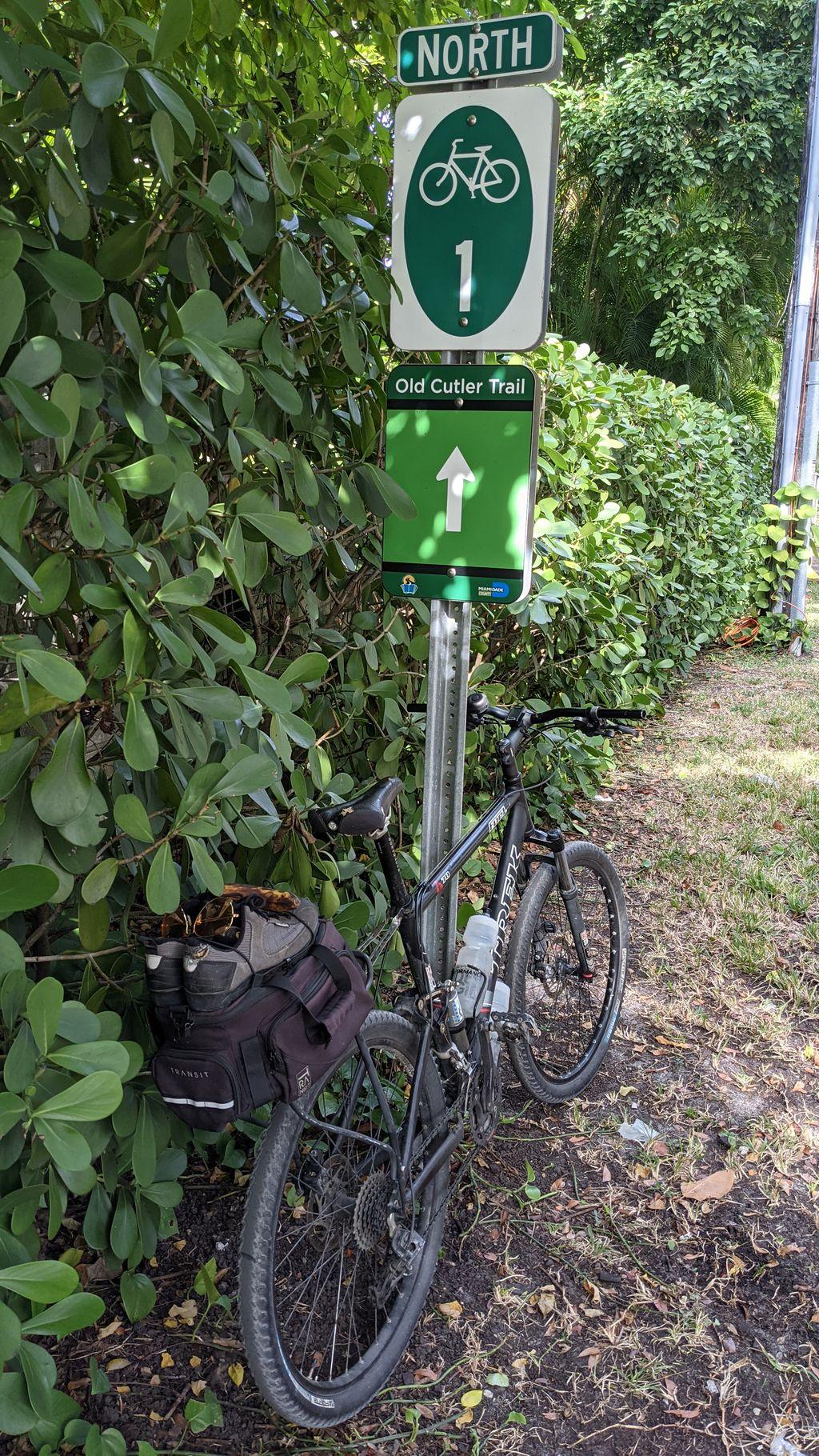 Trek Fuel 70 on Old Cutler Trail